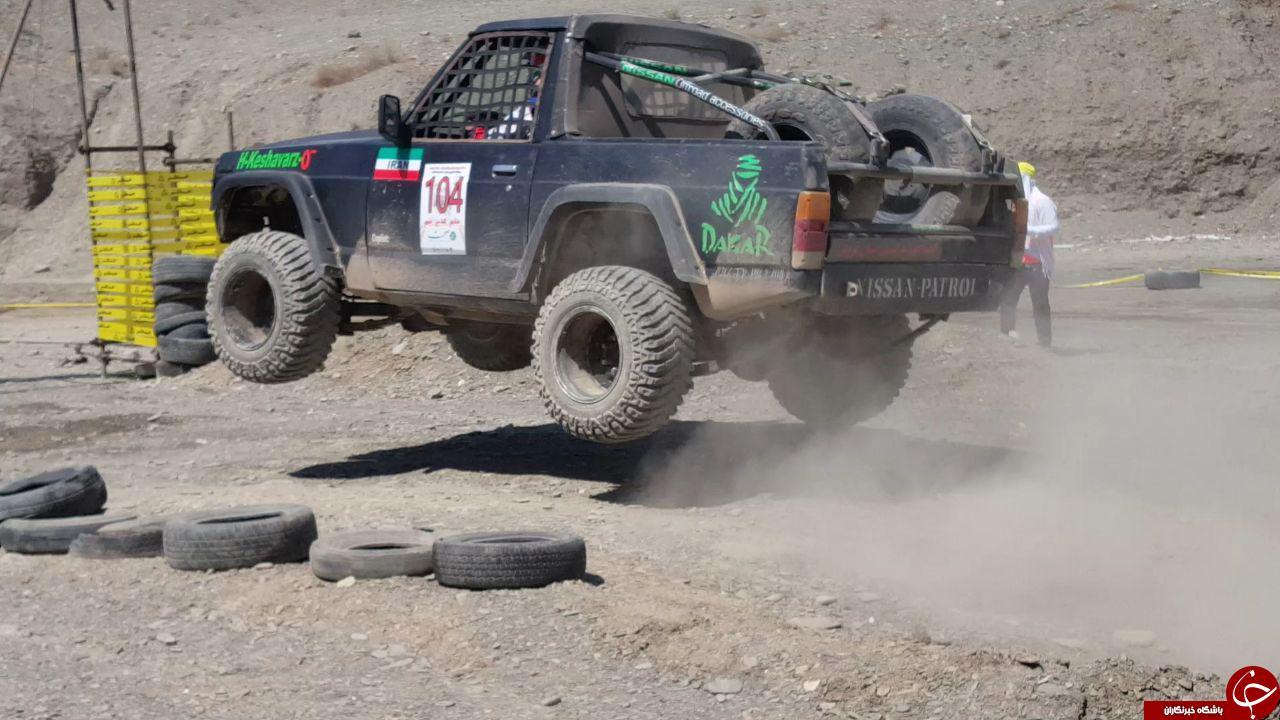برگزاری مسابقه اتومبیلرانی آفرود دستجات آزاد + تصاویر