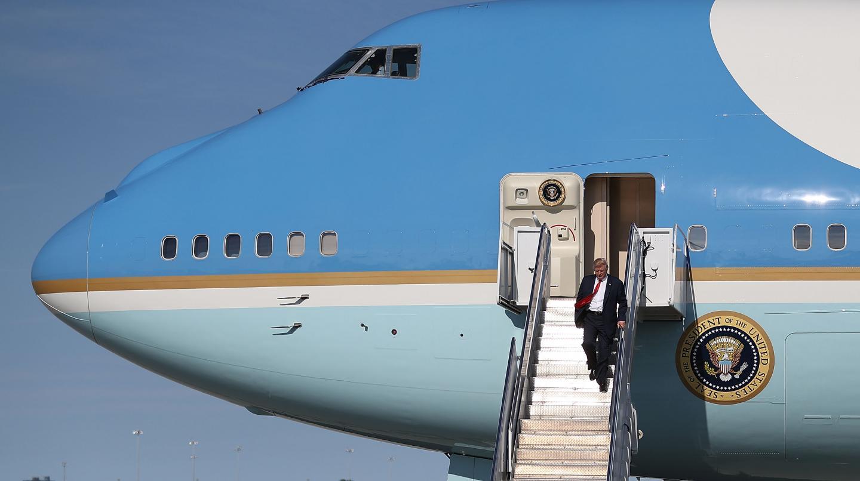هواپیمای بزرگ امیر کویت حسادت ترامپ را برانگیخت!