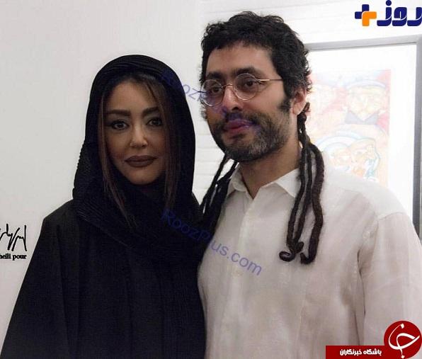 تیپ خانم بازیگر در کنار برادرش با موهایی عجیب و غریب +عکس