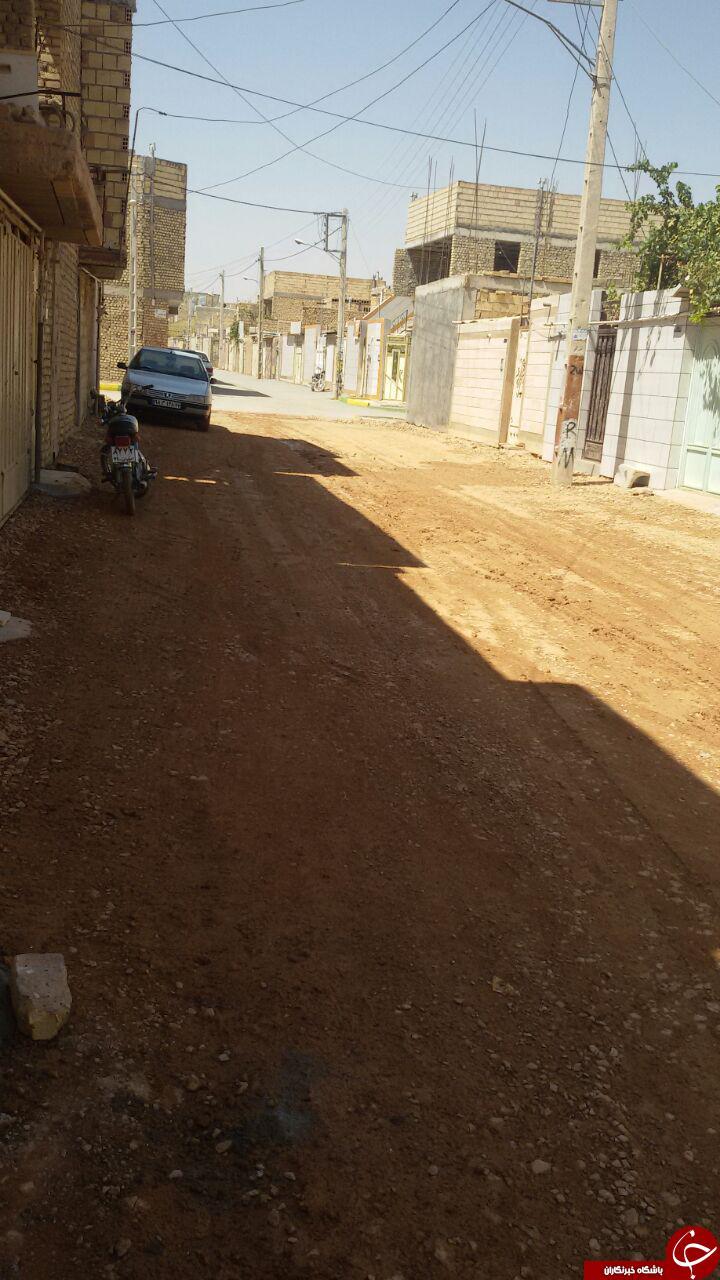 رها شدن خیابان بدون آسفالت در نجفآباد + تصاویر
