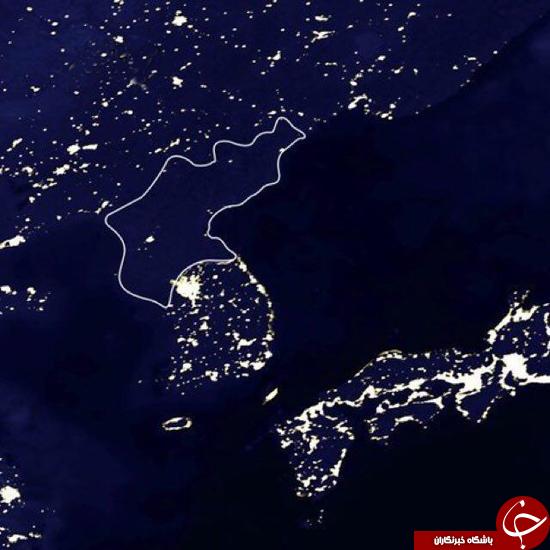 تفاوت کره شمالی و جنوبی در شب +عکس