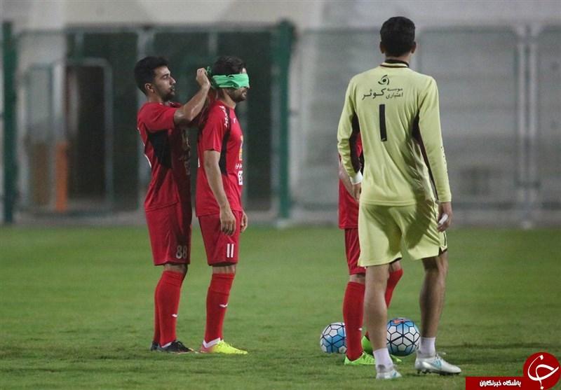 فوتبال چشم بسته پرسپولیسیها با زمین خوردن بیرانوند و خندههای منشا + تصاویر