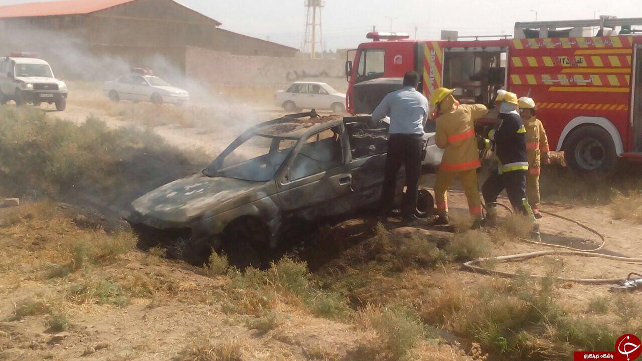 تانکر حمل سوخت در محور قوچان مشهد منفجر شد/ 5 نفر در آتش سوختند