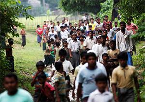 فرار مسلمانان روهینگیا از جهنم میانمار + فیلم