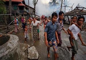 نجات یافته از خاکستر/ کمک های هلال سرخ صورت مسلمانان میانماری را سرخ میکند؟