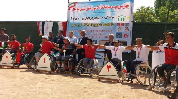 قهرمانی آذربایجان شرقی در مسابقات بین المللی تنیس با ویلچر