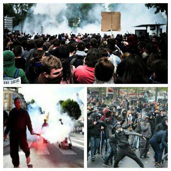تظاهرات هزاران نفر در فرانسه در اعتراض به اصلاح قانون کار + تصاویر