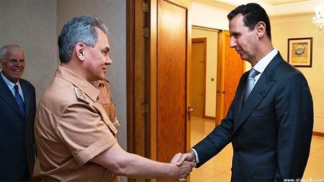 پیام تبریک پوتین به بشار اسد به مناسبت شکستن محاصره دیرالزور