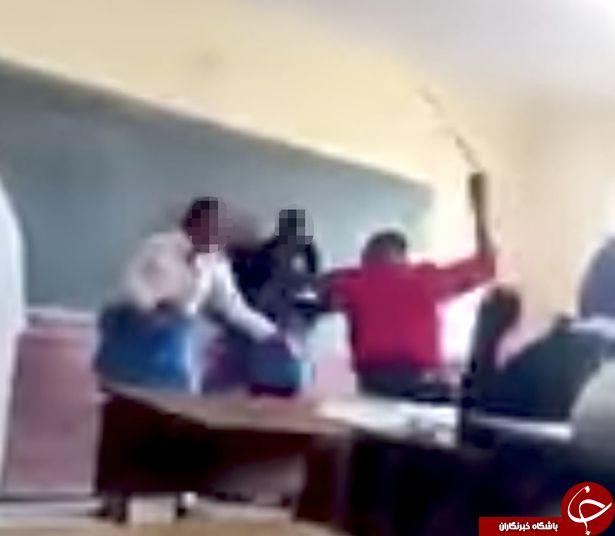 ضرب و شتم شدید دانش آموز دختر توسط معلمش + فیلم