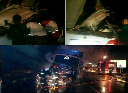 کشته شدن ۱۱ نفر در ۲ سانحه رانندگی در محورهای استان مرکزی
