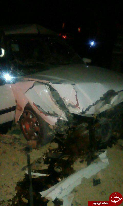برخورد مرگبار خودرو با تپه در جاده + تصاویر
