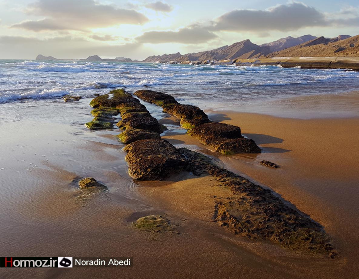 چشم انداز خلیج فارس/ ساحل زیبای پارسیان+ تصاویر