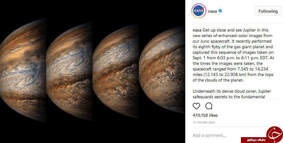 تایم لپس فوقالعاده ناسا از تغییر رنگ سیاره مشتری
