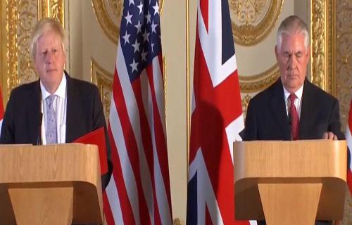 تیلرسون: باید تهدید ایران را به صورت کلی در نظر گرفت، نه تنها از بُعد هستهای
