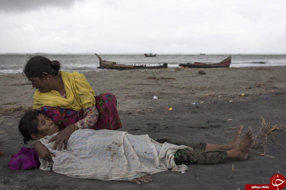 دردناک ترین عکس از حادثه کشتار مسلمانان میانمار