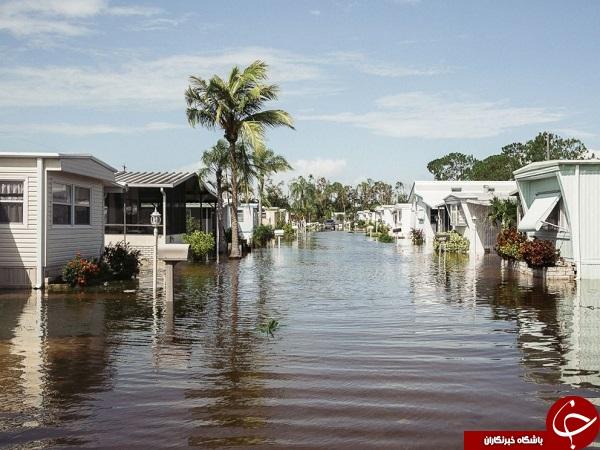 طوفانهایی که زندگی مردم را در چند ایالت آمریکا فلج کرد+تصاویر