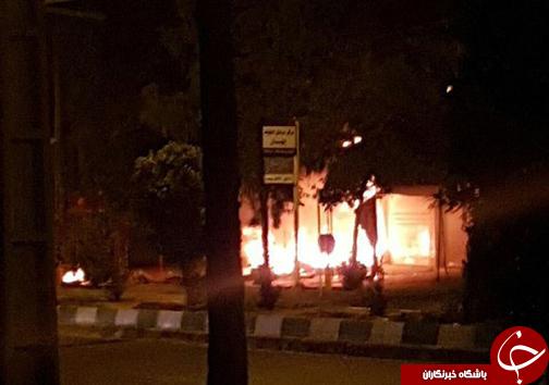 انفجار در مغازه تزئینات خودرو در فسا + تصاویر