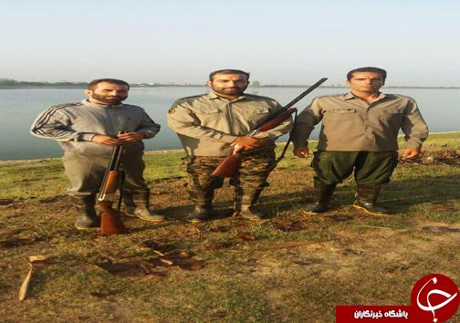 دستگیری ۶ شکارچی غیرمجاز در مازندران + تصاویر