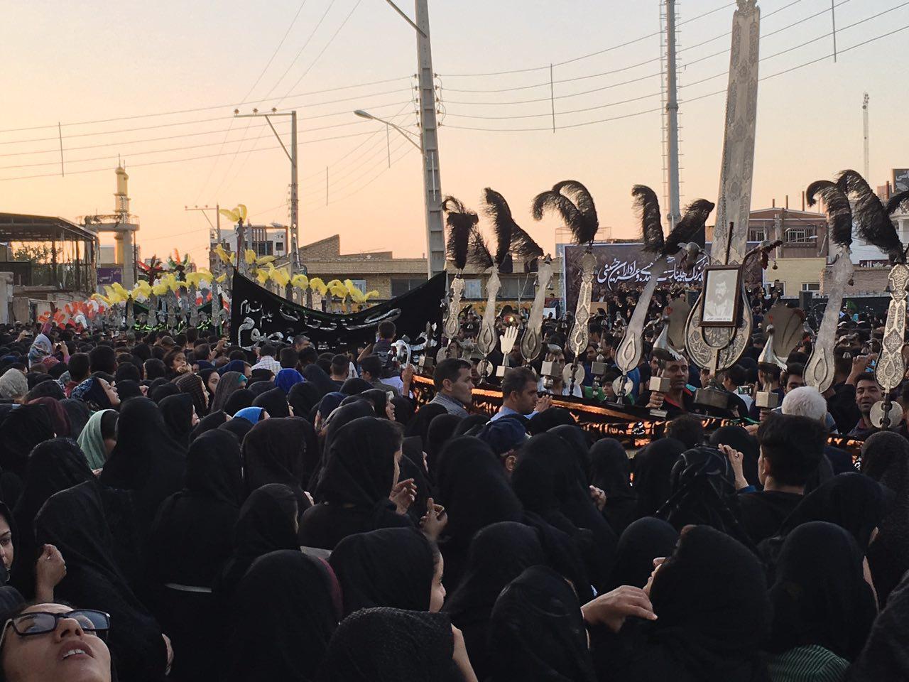 مراسم استقبال از ماه محرم در سیرجان برگزار شد