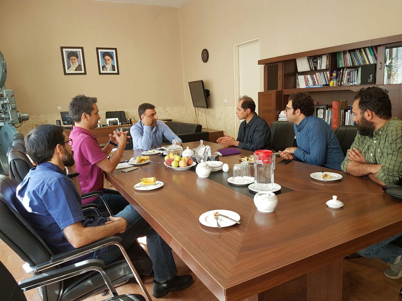 دیدار دبیر جشنواره فیلم فجر با هیئت مدیره انجمن فیلم کوتاه