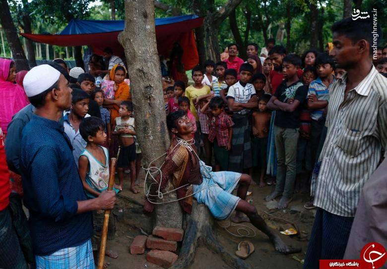 سرقت از آوارگان میانماری! +عکس