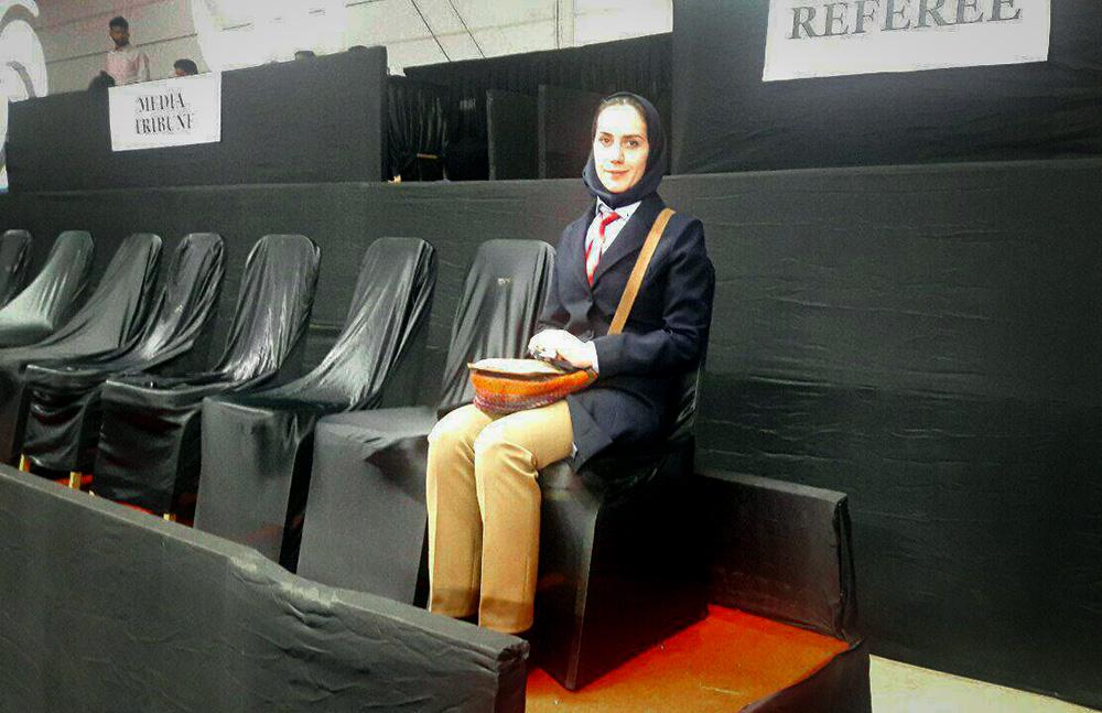 قضاوت بانوی داور بینالمللی آذربایجان شرقی در مسابقات تنیس روی میز کاپ آسیا