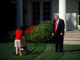 باشگاه خبرنگاران -کممحلی چمن زن ۱۱ ساله به ترامپ!+ تصاویر