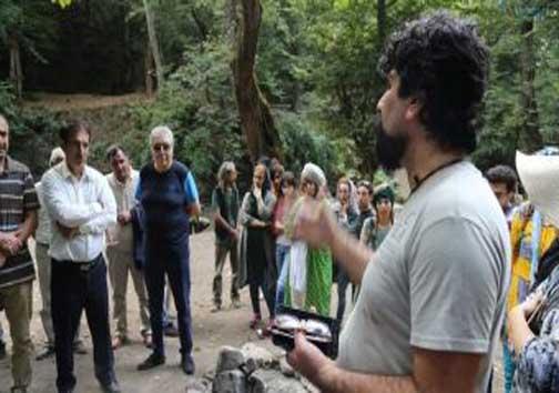 پایان میزبانی جنگل بولا از هنرمندان هنر در طبیعت +تصاویر