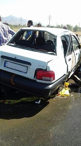 تصادف مرگبار پراید در جاده خاوران یک کشته و 5 مجروح برجای گذاشت+ تصاویر