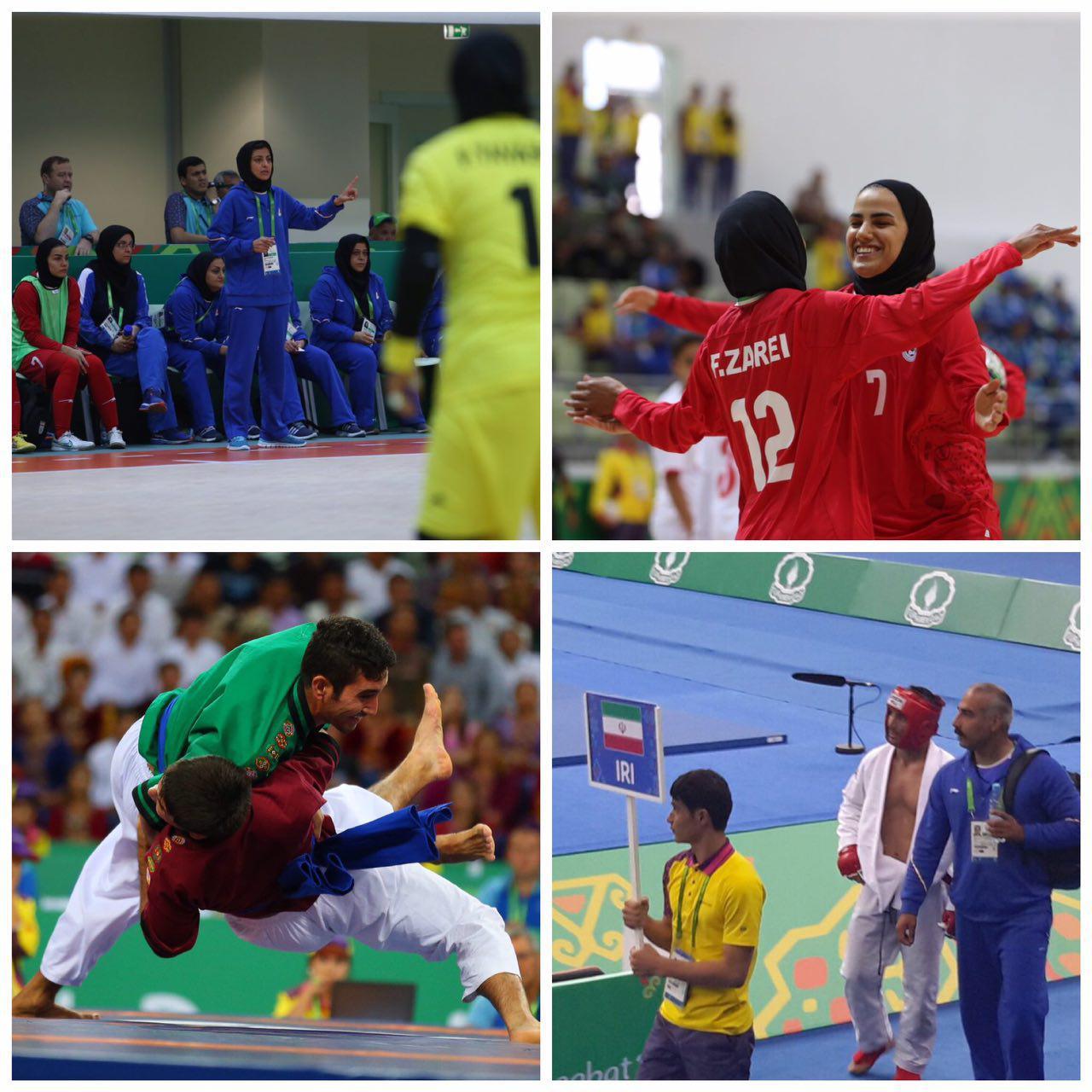 ۳ مدال برنز، یک پیروزی پر گل حاصل نمایندگان کشورمان در شروع مسابقات ترکمنستان