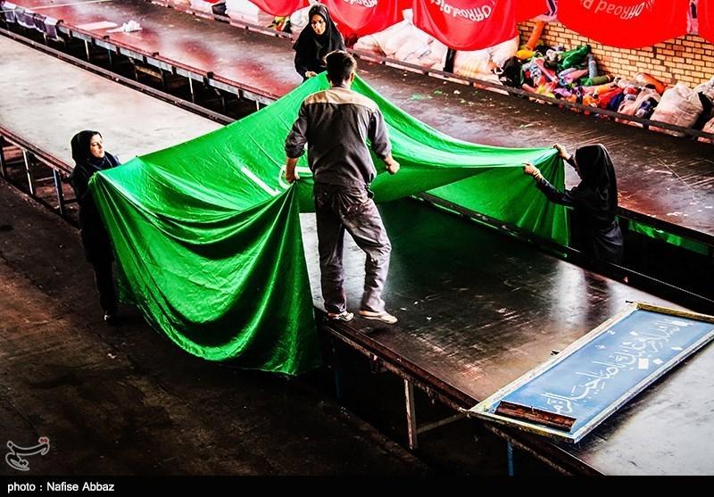 در کارگاه های تولید پرچم در آستانه ماه محرم 96 چه میگذرد؟+تصاویر