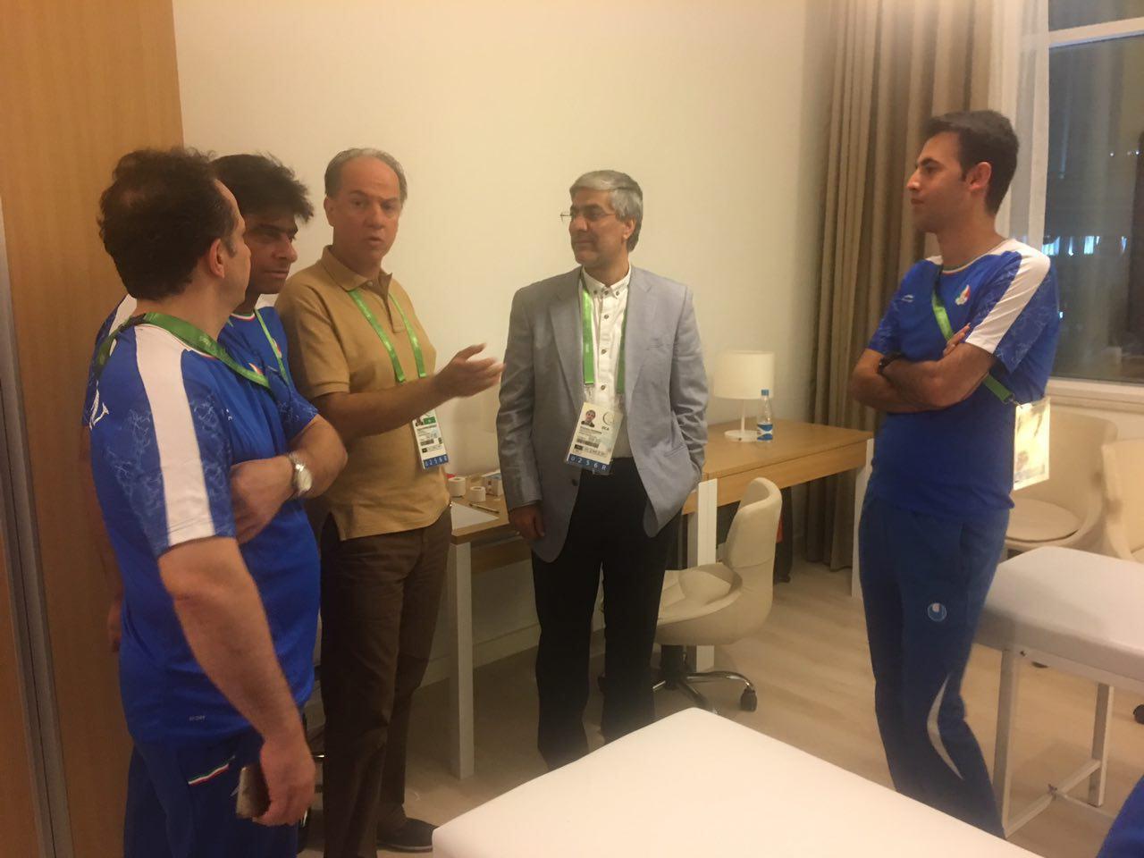 بازدید رئیس کمیته ملی المپیک از دهکده بازیها ترکمنستان