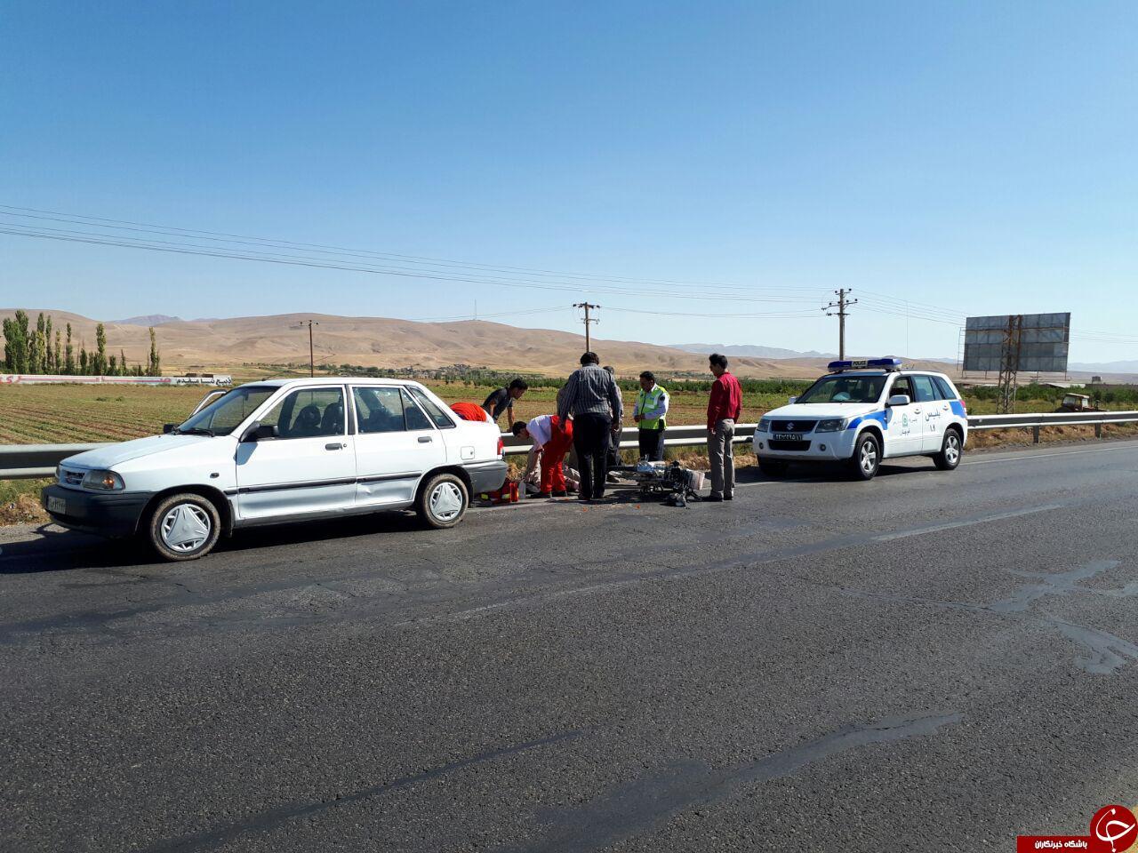 مصدومیت ۷ نفر در حوادث جادهای قوچان+تصاویر