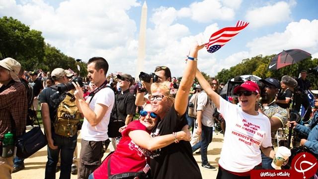 تلاشها برای برگزاری باشکوه «مادر همه راهپیماییها» در واشنگتن ناکام ماند+ تصاویر