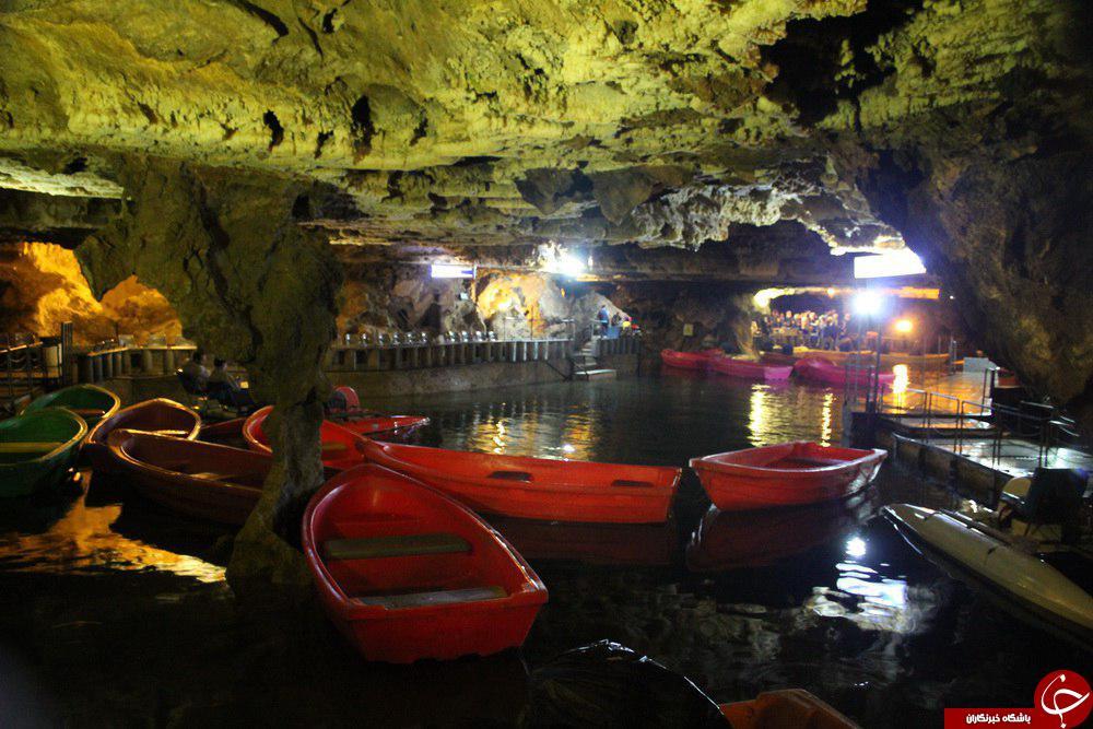 چشم اندازی دیدنی از غار علیصدر + تصاویر