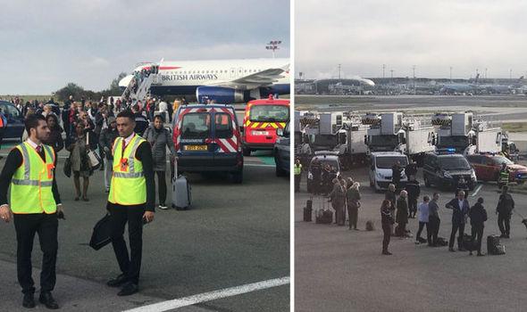 تخلیه یک هواپیما در پاریس در پی تهدید امنیتی