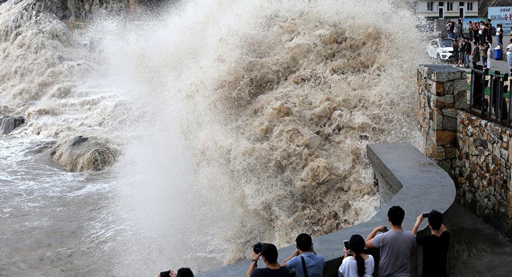 توفان قدرتمند «تالیم» وارد شرق روسیه شد