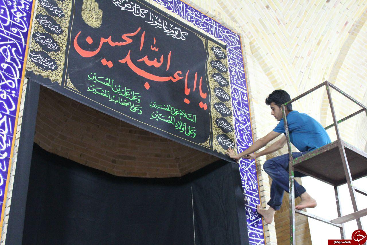 سیاهپوش کردن مسجد جواد الائمه (ع) برای ماه محرم + تصاویر
