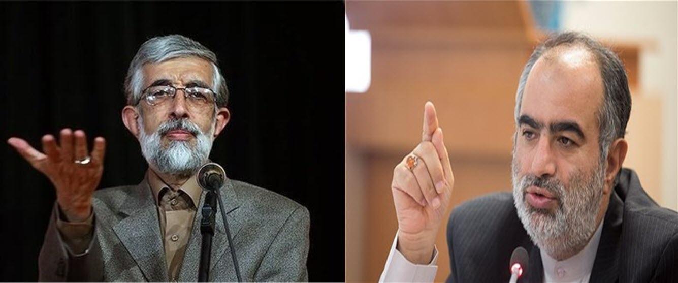 جدال توئتیری حسام الدین آشنا و حداد عادل بر سر نرم افزارهای سیاسی  +عکس