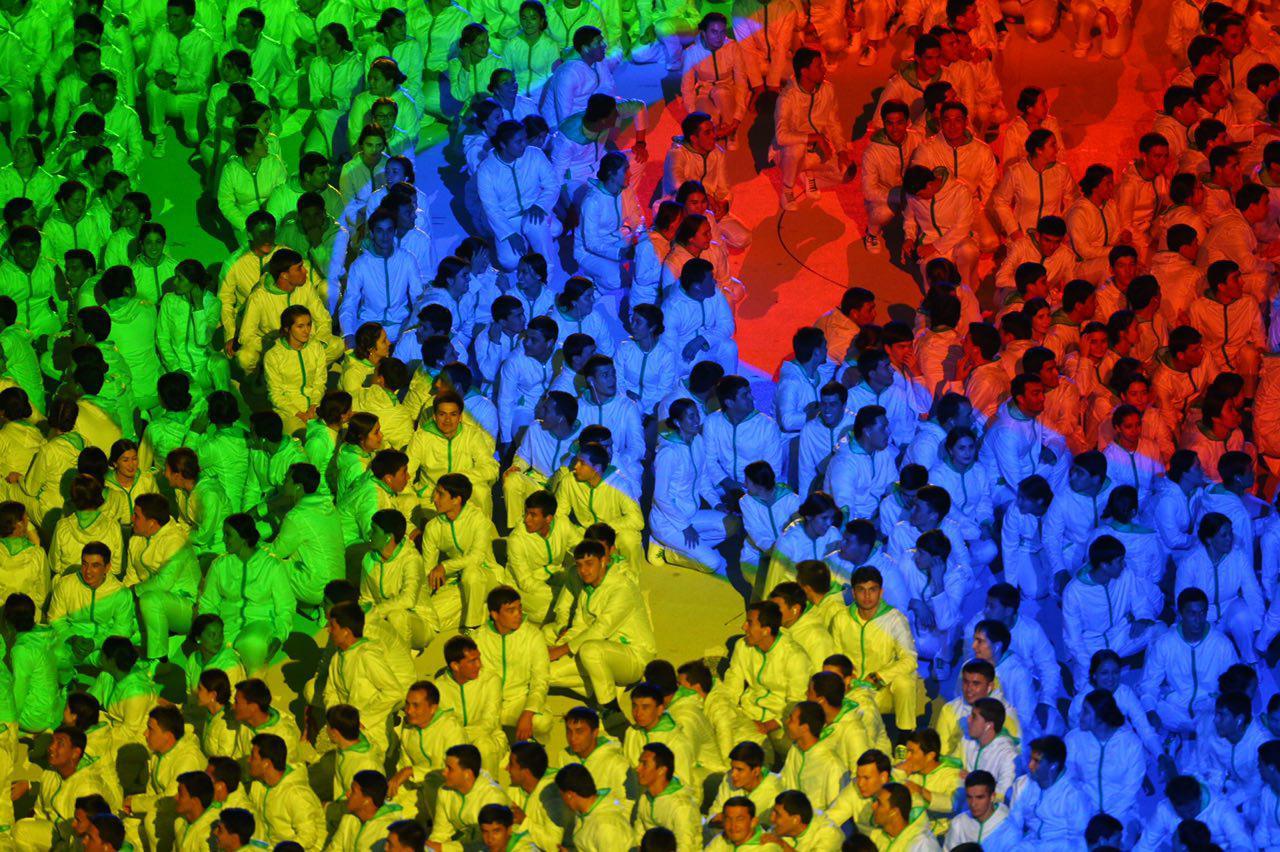 مراسم افتتاحیه بازی های آسیایی داخل سالن