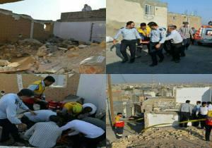 نجات زن تبریزی از زیر آوار ساختمان فرو ریخته در میدان پیشقدم