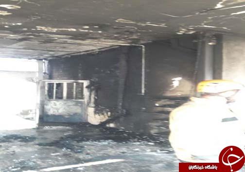 آتش سوزی خودروی پراید با سه مصدوم +تصاویر