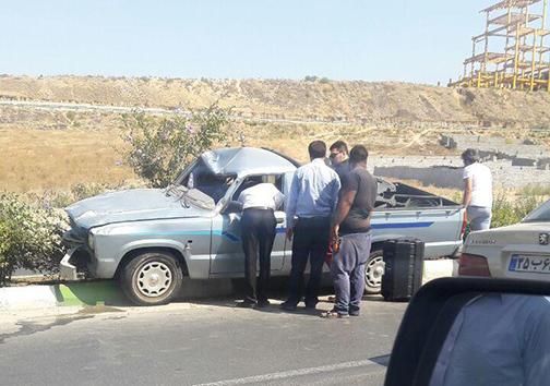 واژگونی دو خودرو در جاده ناهارخوران گلستان