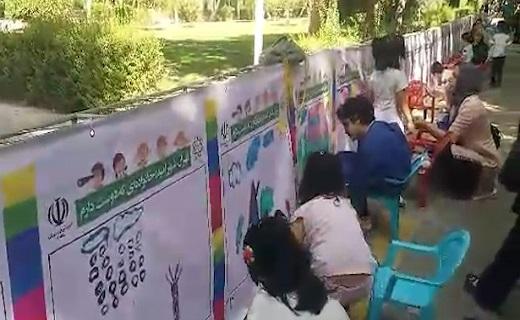 جشنواره طولانی ترین نقاشی دیواری در پایتخت + فیلم