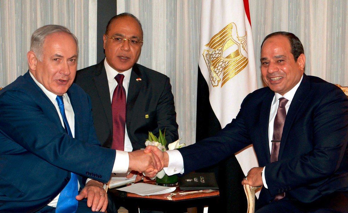 رئیسجمهور مصر برای اولین بار با نتانیاهو دیدار کرد+ تصاویر