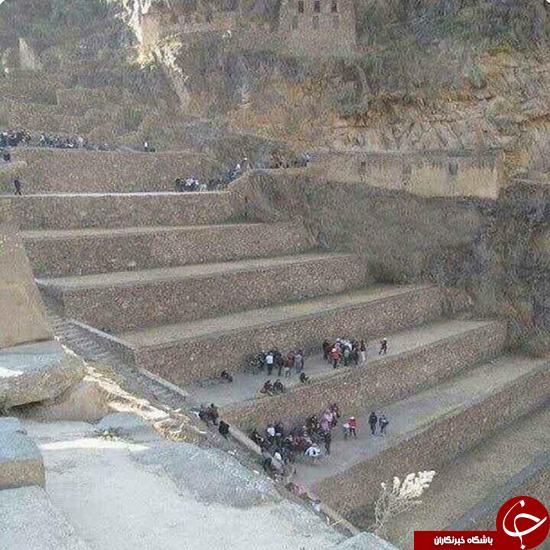پلههایی که غولها استفاده میکردند! +عکس