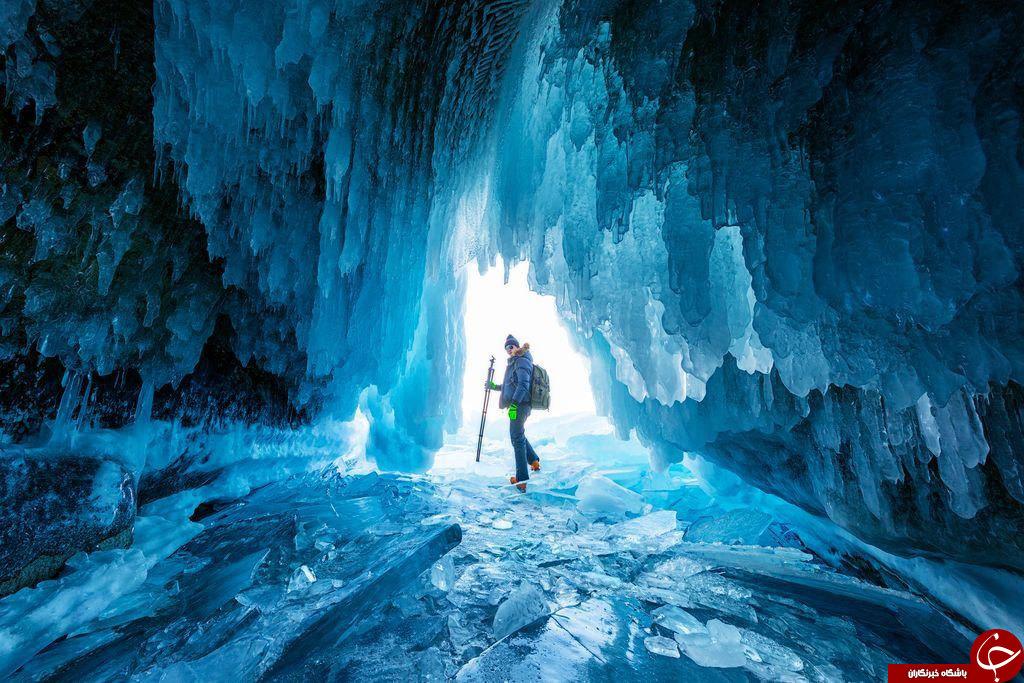 تصویری کمتر دیده شده از غار پوشیده از یخ