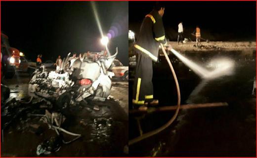 4 کشته و سه مصدوم در برخورد پراید با کامیون