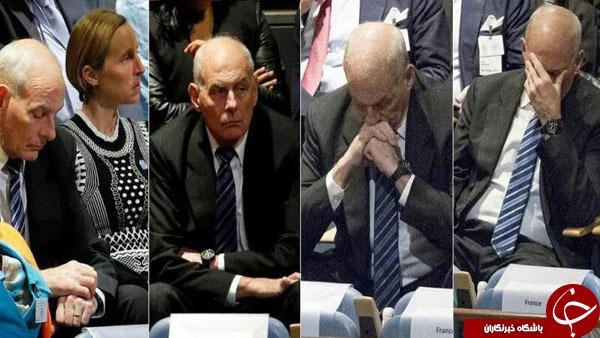 چهره مستاصل جان کلی هنگام سخنرانی ترامپ!+ عکس