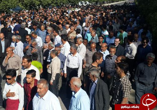 تشییع شهید حادثه تروریستی ناصریه عراق در فسا + تصاویر